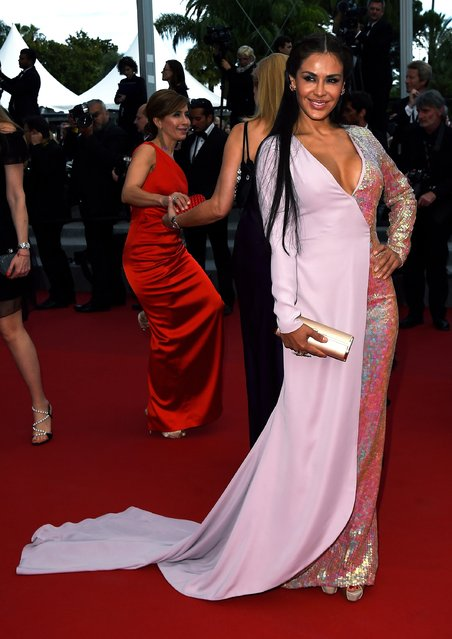 """Carla Ortiz attends the Premiere of """"Dheepan"""" during the 68th annual Cannes Film Festival on May 21, 2015 in Cannes, France. (Photo by Ben A. Pruchnie/Getty Images)"""