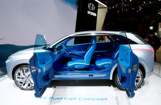 Hyundai Fuel Cell Concept car is seen during the 87th International Motor Show at Palexpo in Geneva, Switzerland March 8, 2017. (Photo by Arnd Wiegmann/Reuters)