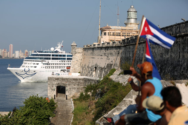 U.S. Carnival cruise ship Adonia arrives at the Havana bay, the first cruise liner to sail between the United States and Cuba since Cuba's 1959 revolution, Cuba, May 2, 2016. (Photo by Alexandre Meneghini/Reuters)