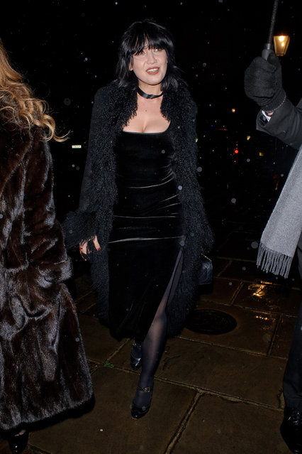Model Daisy Lowe seen attending Evgeny Lebedev's Christmas Party on December 13, 2019 in London, England. (Photo by GORC/GC Images)