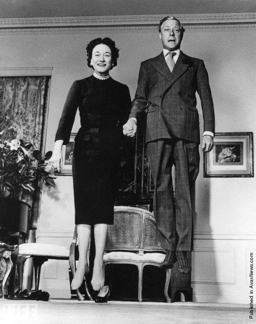 The Duke and Duchess of Windsor (Prince Edward, the former King Edward VIII and Wallis Simpson, later the Duchess of Windsor. Jumpology, 1958