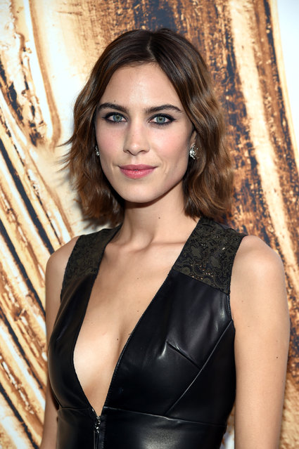 Alexa Chung poses at the CFDA Fashion Awards at the Hammerstein Ballroom on Monday, June 6, 2016, in New York. (Photo by Evan Agostini/Invision/AP Photo)