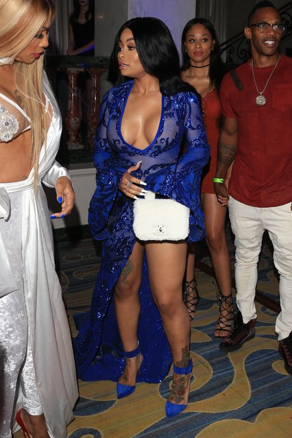 Model Blac Chyna arrives for the iGo.live Launch Event at the Beverly Wilshire Four Seasons Hotel on July 26, 2017 in Beverly Hills, California. (Photo by Splash News and Pictures)