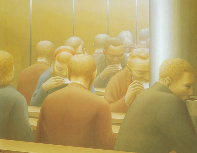 Lunch. Artwork by George Tooker