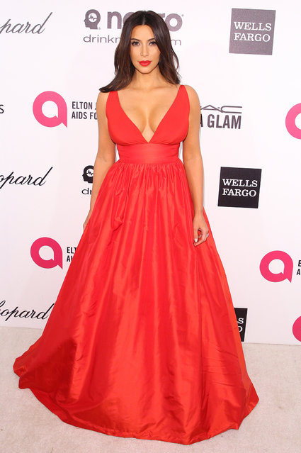 Kim Kardashian attends the 22nd Annual Elton John AIDS Foundation's Oscar Viewing Party on March 2, 2014 in West Hollywood, California. (Photo by J. B. Lacroix/WireImage)