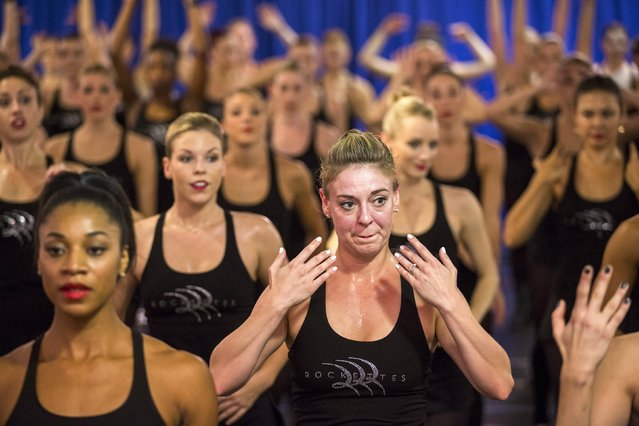 A dancer listens to instructions while rehearsing for the Rockettes 2015 Radio City Christmas Spectacular in New York October 15, 2015. (Photo by Lucas Jackson/Reuters)