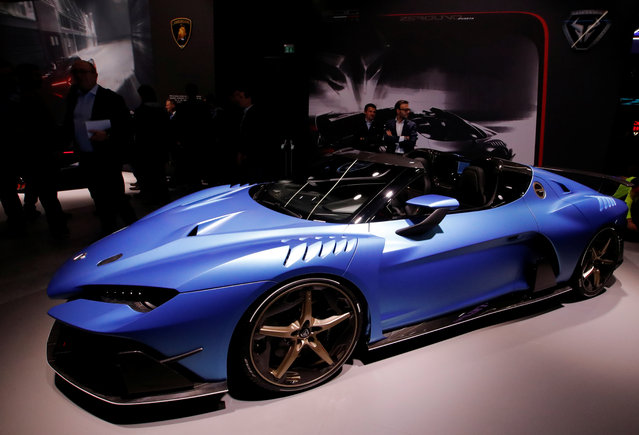Zerouno Duerta is presented during the press day at the 88th Geneva International Motor Show in Geneva, Switzerland on Tuesday, March 6, 2018. (Photo by Denis Balibouse/Reuters)