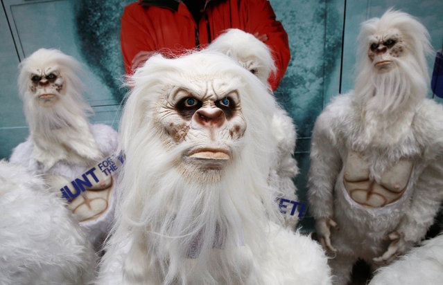 "Actors dressed as a ""Yeti"" attend a promotional event for Travel Channel's ""Expedition Unknown: Hunt for the Yeti"" in Manhattan, New York City, U.S., October 4, 2016. (Photo by Brendan McDermid/Reuters)"
