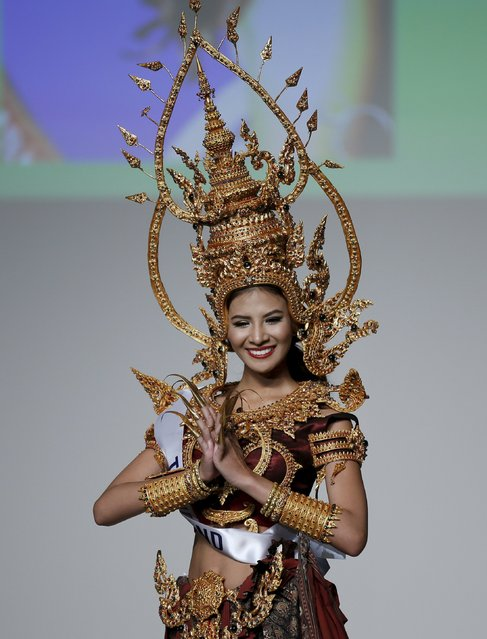 Sasi Sintawee representing Thailand poses in a national dress during the 55th Miss International Beauty Pageant in Tokyo, Japan, November 5, 2015. (Photo by Toru Hanai/Reuters)