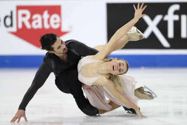 Madison Hubbell and Zachary Donohue skate in the Free Dance at the U.S. Figure Skating Championships at Orleans Arena on January 16, 2021 in Las Vegas, Nevada. (Photo by Matthew Stockman/Getty Images)