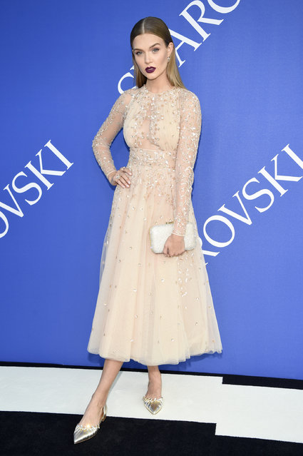 Josephine Skriver attends the 2018 CFDA Fashion Awards at Brooklyn Museum on June 4, 2018 in New York City. (Photo by Kevin Mazur/WireImage)