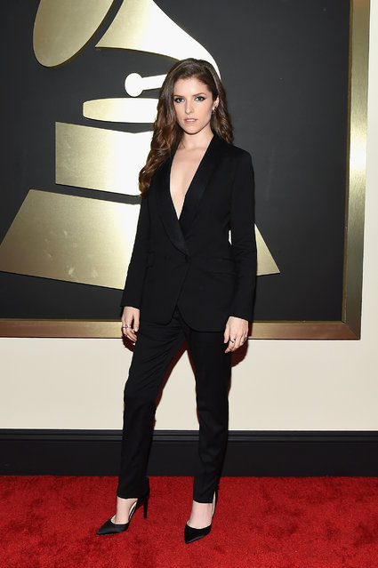 Actress Anna Kendrick attends The 57th Annual GRAMMY Awards at the STAPLES Center on February 8, 2015 in Los Angeles, California. (Photo by Larry Busacca/Getty Images for NARAS)