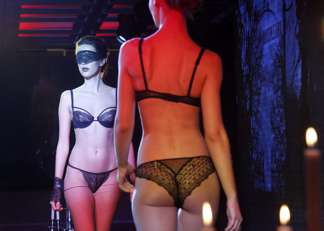 Models presents creations at Lingerie Show-Forum 2016 international lingerie, swimwear, homewear and hosiery trade show in Moscow, Russia, February 26, 2016. (Photo by Sergei Karpukhin/Reuters)