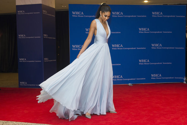 Chanel Iman attends the 2015 White House Correspondents' Association Dinner at the Washington Hilton Hotel on Saturday, April 25, 2015, in Washington. (Photo by Charles Sykes/Invision/AP Photo)