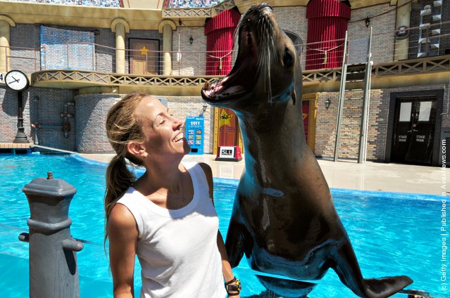 Sheryl Crow meets Clyde the Sea Lion