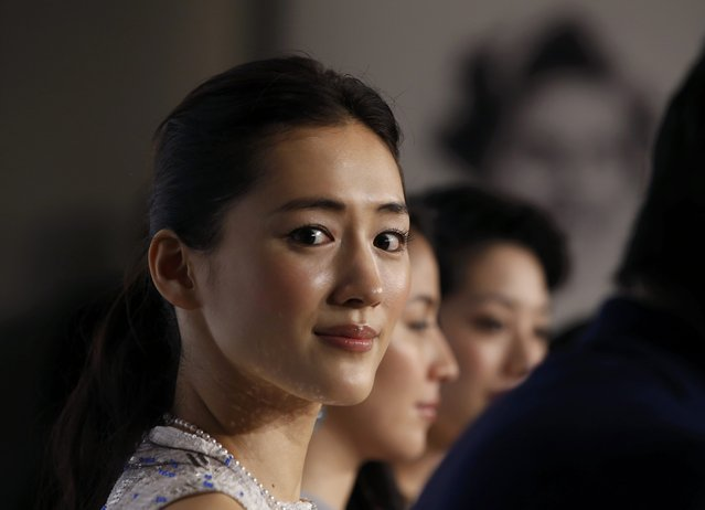 "Cast member Haruka Ayase attends a news conference for the film ""Our Little Sister"" (aka Umimachi Diary) at the 68th Cannes Film Festival in Cannes, southern France, May 14, 2015. (Photo by Eric Gaillard/Reuters)"