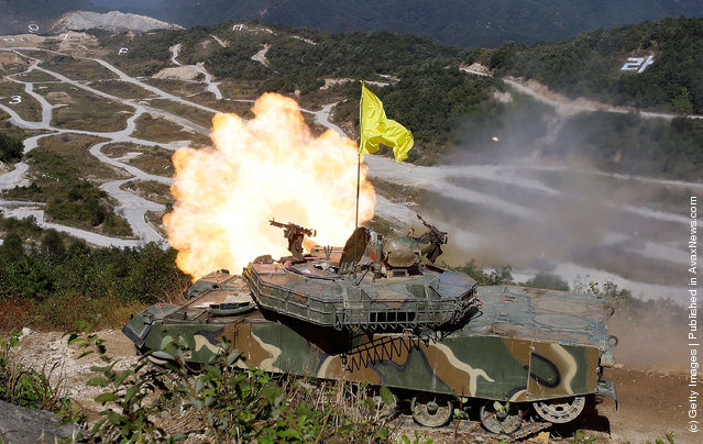 South Korea And U.S. Army Hold Live Fire Exercise