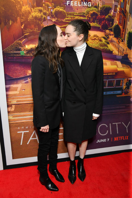 """Ellen Page (L) and Emma Portner attend the """"Tales of the City"""" New York premiere at The Metrograph on June 03, 2019 in New York City. (Photo by Dia Dipasupil/WireImage)"""
