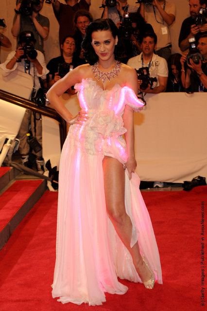 Singer Katy Perry attends the Costume Institute Gala Benefit to celebrate the opening of the American Woman: Fashioning a National Identity exhibition at The Metropolitan Museum of Art on May 3, 2010 in New York City