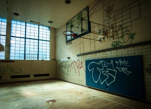 One of Cleveland's abandoned YMCA facilities. (Photo by Jonny Joo/Barcroft Media)