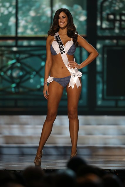 Miss Arkansas, Leah Blefko, competes in the swimsuit competition during the preliminary round of the 2015 Miss USA Pageant in Baton Rouge, La., Wednesday, July 8, 2015. (Photo by Gerald Herbert/AP Photo)