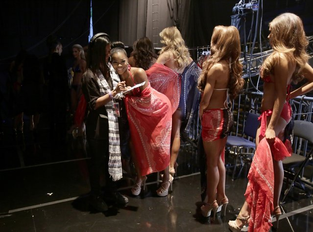 Miss Delaware Renee Bull and contestants backstage at the 2015 Miss USA Pageant Only On ReelzChannel at The Baton Rouge River Center on July 12, 2015 in Baton Rouge, Louisiana. (Photo by Lee Celano/Getty Images for Miss USA)