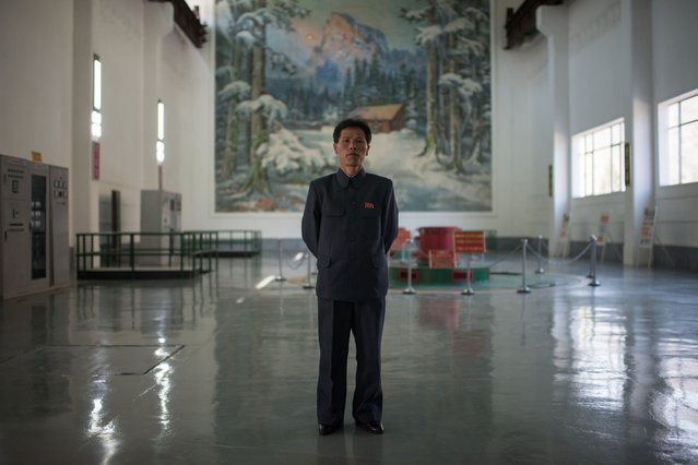 In a photo taken on April 11, 2017 chief engineer Choe Yong-Jun poses for a portrait at the Wonsan Youth Power Station, a hydroelectric plant outside the eastern port city of Wonsan. (Photo by Ed Jones/AFP Photo)