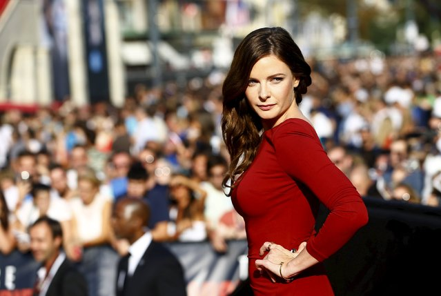 """Actress Rebecca Ferguson poses upon her arrival for the world premiere of """"Mission Impossible – Rogue Nation"""" in front of State Opera house in Vienna, Austria, July 23, 2015. (Photo by Leonhard Foeger/Reuters)"""