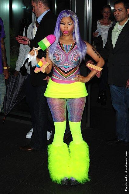 Nicki Minaj seen leaving the W Hotel on April 20, 2012 in London, England