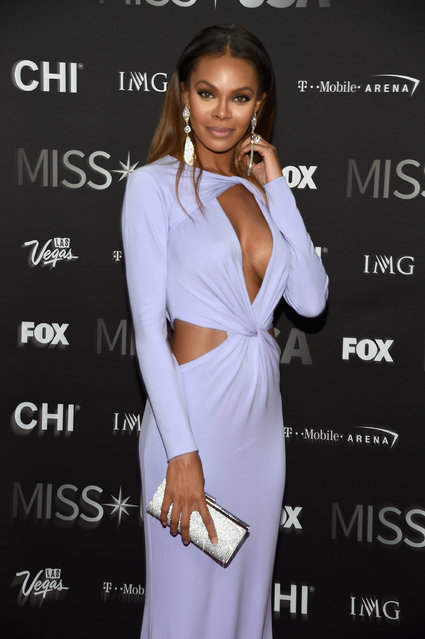 Actress and pageant judge Crystle Stewart attends the 2016 Miss USA pageant at T-Mobile Arena on June 5, 2016 in Las Vegas, Nevada. (Photo by Ethan Miller/Getty Images)