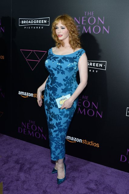 """Actress Christina Hendricks attends the premiere of Amazon's """"The Neon Demon"""" at ArcLight Cinemas Cinerama Dome on June 14, 2016 in Hollywood, California. (Photo by Matt Winkelmeyer/Getty Images)"""