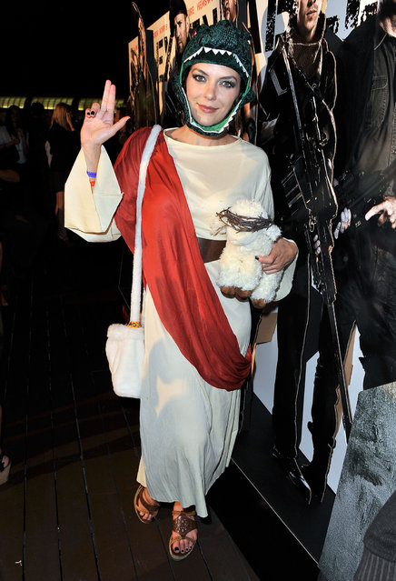 Most people would never know that Adrianne Curry – winner of the first season of America's Next Top Model and a subsequent reality star – is actually a ginormous nerd. She loves Star Wars and World of Warcraft, and she regularly partakes in cosplay, or the act of dressing up and pretending to be a fictional character. (Photo by Jerod Harris/Getty Images for IGN)