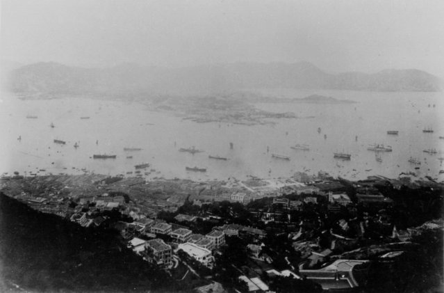 A general view shows Hong Kong's Victoria Harbour in 1865. (Photo by Ho New/Reuters)