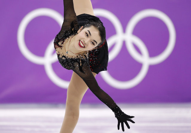 USA' s Karen Chen competes in the women' s single skating free skating of the figure skating event during the Pyeongchang 2018 Winter Olympic Games at the Gangneung Ice Arena in Gangneung on February 23, 2018. (Photo by Damir Sagolj/Reuters)