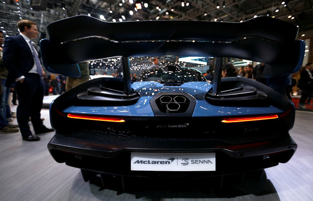 McLaren P15 Senna is presented during the press day at the 88th Geneva International Motor Show in Geneva, Switzerland on Tuesday, March 6, 2018. (Photo by Denis Balibouse/Reuters)