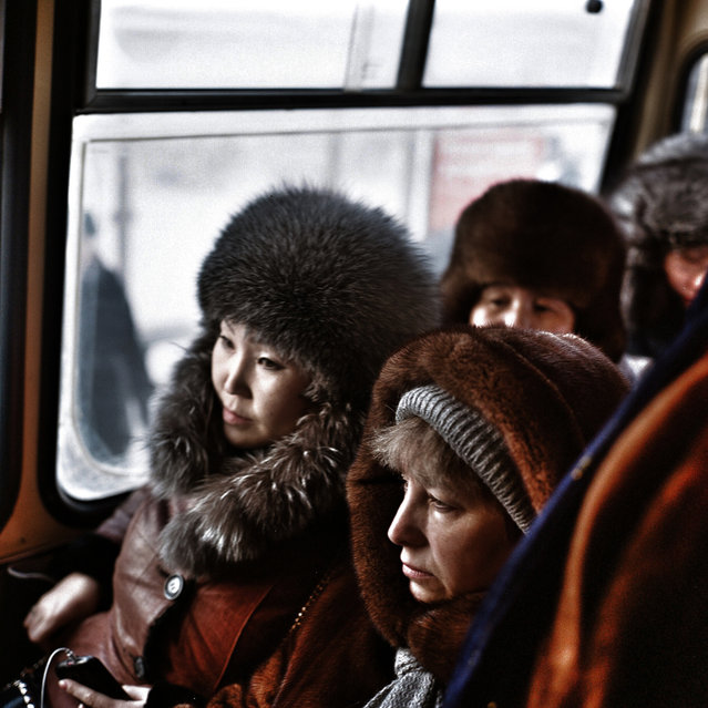 January 2013. A scene in Yakutsk, Siberia, the coldest city in the world. (Photo by Steeve Iuncker/Agence VU)