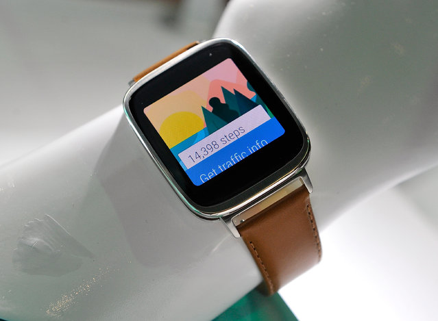 The Asus ZenWatch is displayed at the 2015 International CES at the Las Vegas Convention Center on January 6, 2015 in Las Vegas, Nevada. (Photo by David Becker/Getty Images)