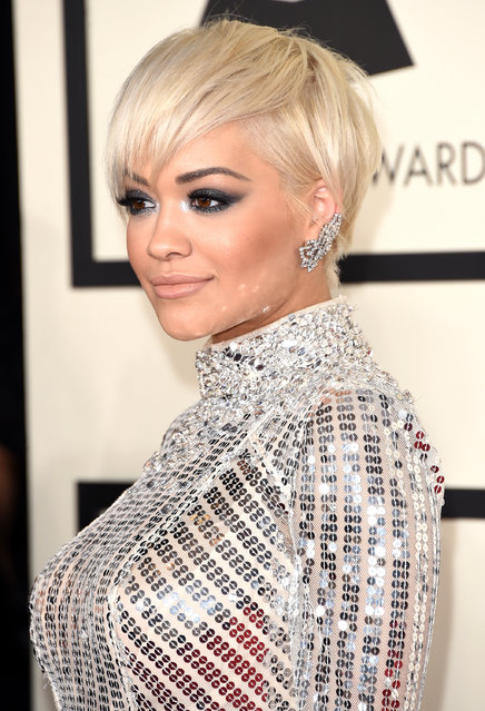 Singer Rita Ora attends The 57th Annual GRAMMY Awards at the STAPLES Center on February 8, 2015 in Los Angeles, California. (Photo by Jason Merritt/Getty Images)