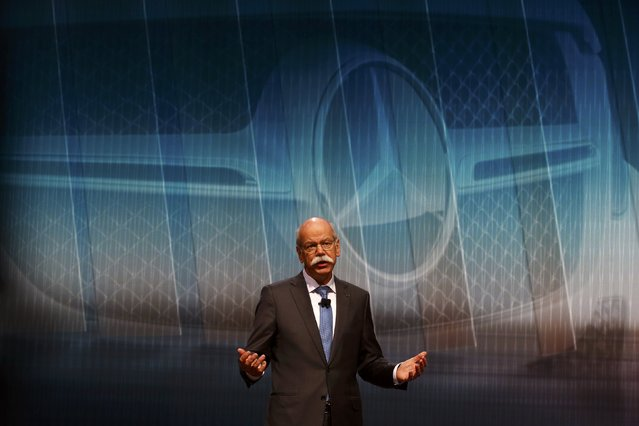 Daimler CEO Dieter Zetsche addresses media during the first press day ahead of the 85th International Motor Show in Geneva March 3, 2015.  REUTERS/Arnd Wiegmann