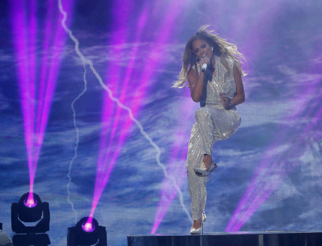Jennifer Lopez performs onstage during the 2018 American Music Awards at Microsoft Theater on October 9, 2018 in Los Angeles, California. (Photo by Mario Anzuoni/Reuters)