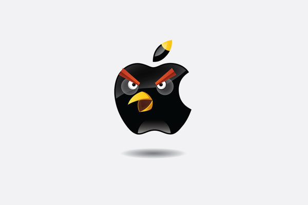 Famous Logos Recreated Using Angry Birds