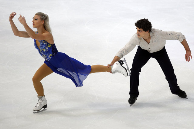 Piper Gilles and Paul Poirier of Canada compete in the Ice Dance Free Dance during the ISU figure skating France's Trophy, in Grenoble, French Alps, Saturday, November 24, 2018. (Photo by Francois Mori/AP Photo)