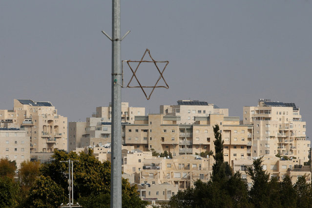 A general view shows a Star of David near buildings in the Israeli settlement of Maale Edumim, in the occupied West Bank December 28, 2016. (Photo by Baz Ratner/Reuters)