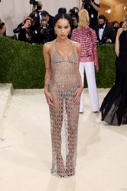 American actress, singer and model Zoe Kravitz attends The 2021 Met Gala Celebrating In America: A Lexicon Of Fashion at Metropolitan Museum of Art on September 13, 2021 in New York City. (Photo by John Shearer/WireImage)