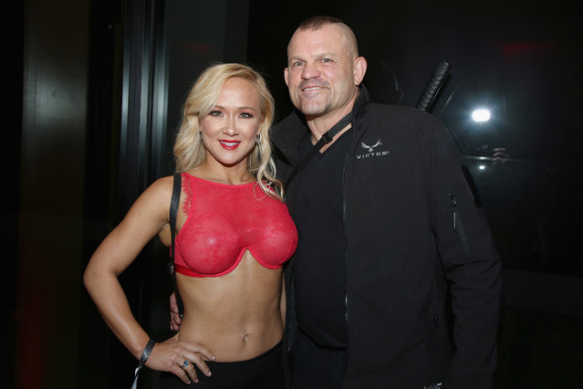 Heidi Northcott and Chuck Liddell attend Ignite Angels and Devils Pre-Valentine's Day Party on February 13, 2019 in Bel Air, California. (Photo by Randall Michelson/Getty Images for Ignite)