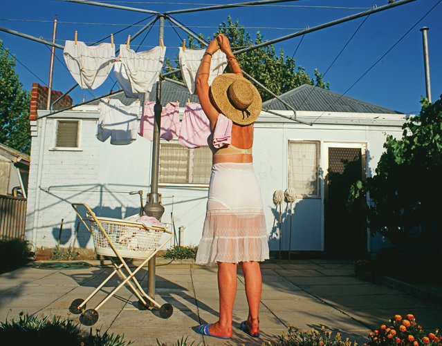 The Perth-based photographer and journalist Frances Andrijich has travelled the Western Australian coast since the early 90s, capturing clotheslines in all their glory. In her images they take the roles of play equipment, Christmas trees and, in the summer, a homemaker's dream. Andrijich admits she is hopelessly hung up on clotheslines; her latest book celebrates them under the spotlight of the Australian sun. (Photo by Frances Andrijich)