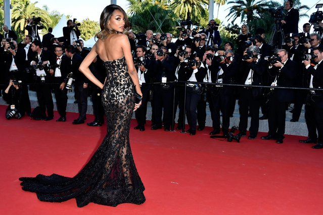 """Model Jourdan Dunn attends the """"Little Prince"""" (Le Petit Prince) Premiere  during the 68th annual Cannes Film Festival on May 22, 2015 in Cannes, France. (Photo by Pascal Le Segretain/Getty Images)"""