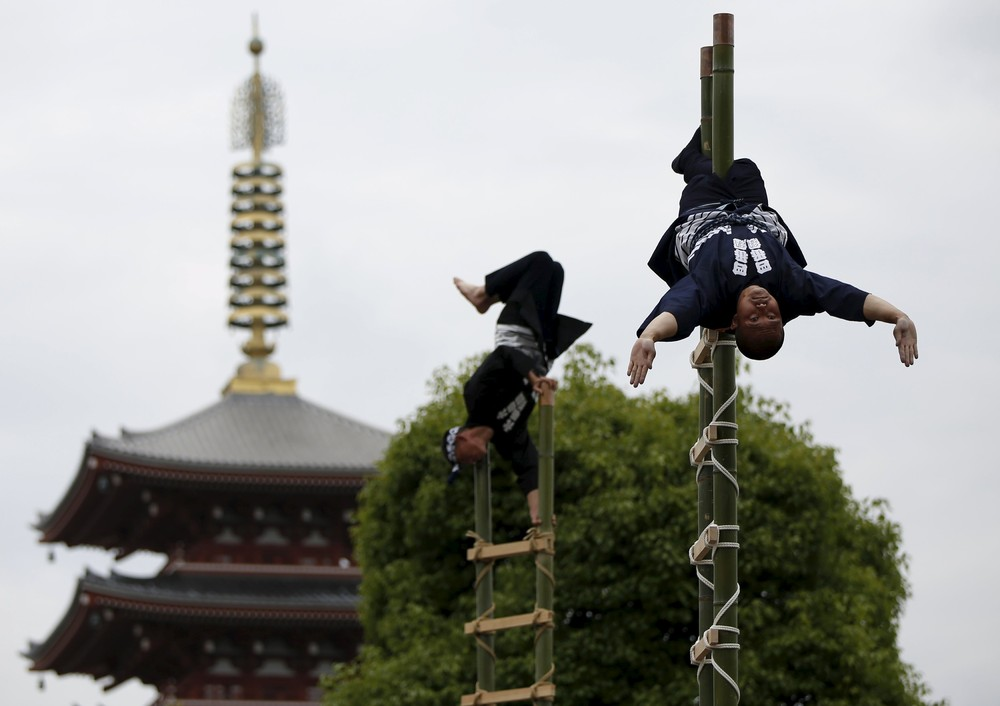 A Memorial Service for Firefighters at Sensoji Temple in Tokyo