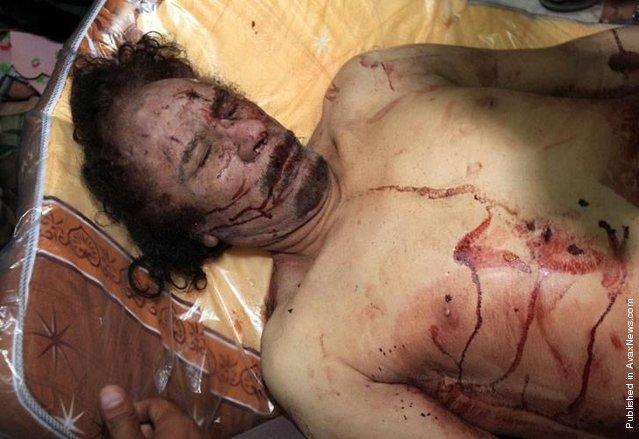 Muammar Gaddafi Death Photo