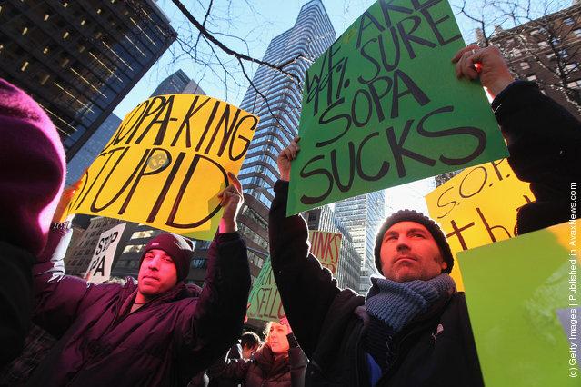Tech Activists Protest SOPA And PIPA Bills